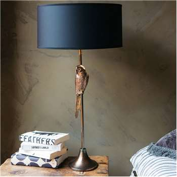 Perching Parrot Table Lamp (H54 x W15 x D15cm)