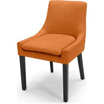 Percy Scoop Back Chair, Marigold Orange (87 x 53cm)