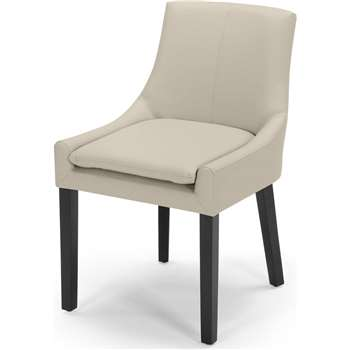 Percy Scoop Back Chair, Putty Beige PU (87 x 53cm)