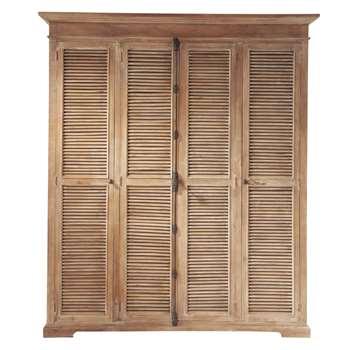 PERSIENNES Mango and Acacia Closet (H220 x W190 x D60cm)