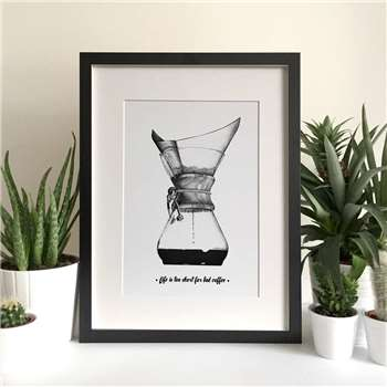 Personalised Coffee Brewing Art Print