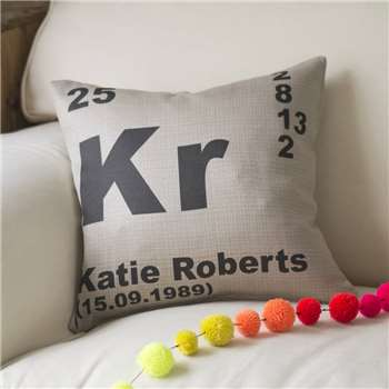 Personalised Periodic Table Cushion (H40.6 x W40.6cm)