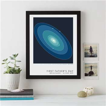 Personalised Place In Space Print, A4 (H29.7 x W21cm)