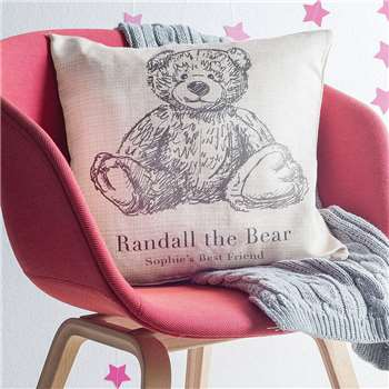 Personalised Teddy Bear Cushion (H40.6 x W40.6cm)