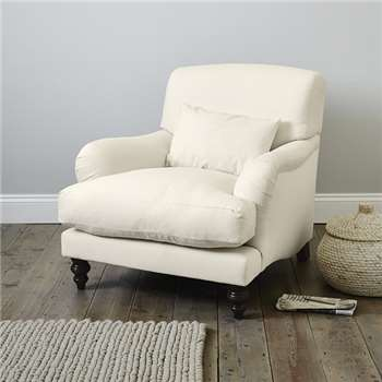 Petersham Cotton Armchair, Pearl Cotton (88 x 95cm)