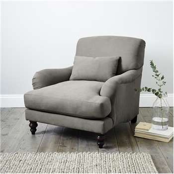 Petersham Cotton Armchair, Silver Cotton (88 x 95cm)