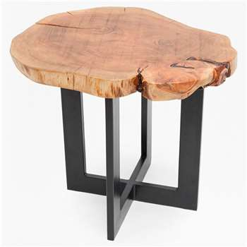 Petrified Wood Side Table (H50 x W56cm)