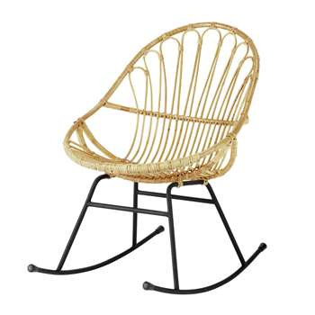 PETUNIA Rattan rocking chair