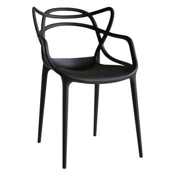 Philippe Starck for Kartell Masters Chair, Black (H84 x W57 x D47cm)