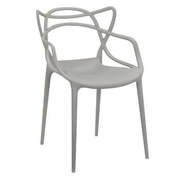 Philippe Starck for Kartell Masters Chair, Grey (H84 x W57 x D47cm)