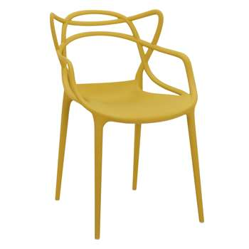 Philippe Starck for Kartell Masters Chair, Mustard (H84 x W57 x D47cm)