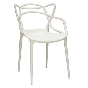 Philippe Starck for Kartell Masters Chair, White (H84 x W57 x D47cm)