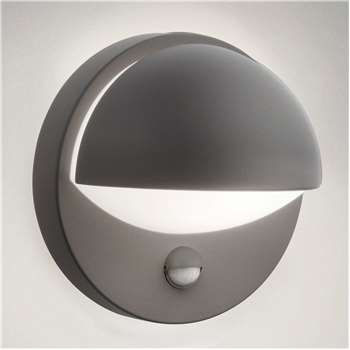Philips June Wall Lantern 1 x 12W 230V with PIR, Anthracite (H19.5 x W13.5 x D19.5cm)
