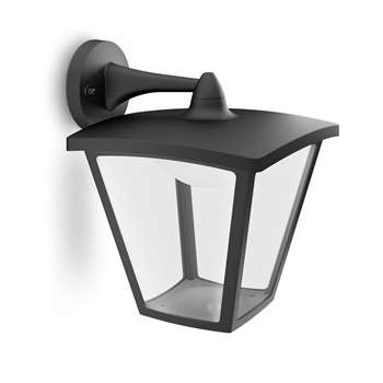 Philips myGarden LED Outdoor Cottage Lantern Wall Light, Black (26.5 x 25cm)