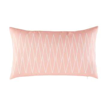 PIAZZA Pink Outdoor Cushion with White Graphic Motifs (30 x 50cm)