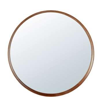 PIERCE - Round Beech Mirror (H120 x W120 x D8.5cm)