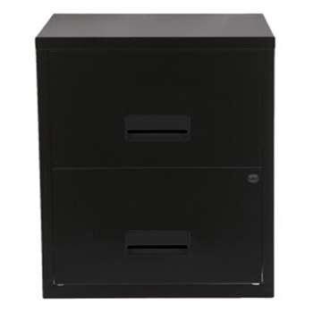 Pierre Henry A4 2 Drawer Filing Cabinet - Black (H66 x W40 x D40cm)