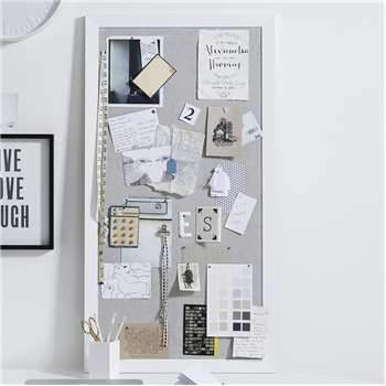 Pin Board, White Grey (106.5 x 56.5cm)