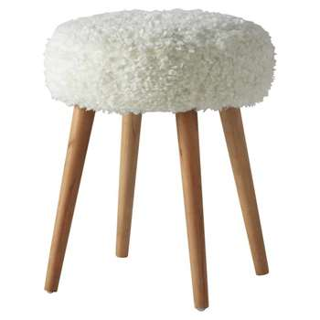 PIN'UP faux fur in white (45 x 36cm)