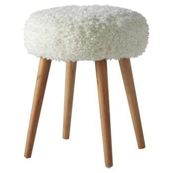 PIN'UP faux fur in white (H45 x W36cm)