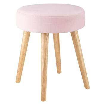 PIN'UP pink fabric stool (45 x 35cm)