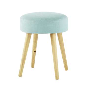 PIN'UP wood and fabric stool in blue (45 x 35cm)