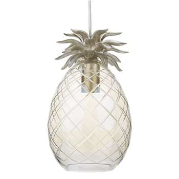 Pineapple Glass Pendant Light (32 x 20cm)