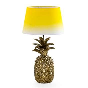 Love Frankie Pineapple Lamp Base In Antique Gold (58 x 31cm)