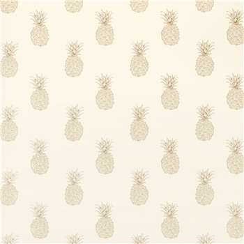 Pineapple Print Pewter Wallpaper
