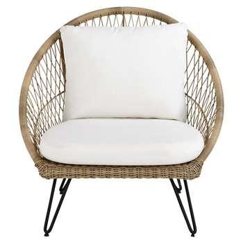 PINEAPPLE Resin Wicker Garden Armchair (H91 x W91 x D93cm)