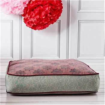 Pink and Blue Floor Cushion (H20 x W75 x D75cm)