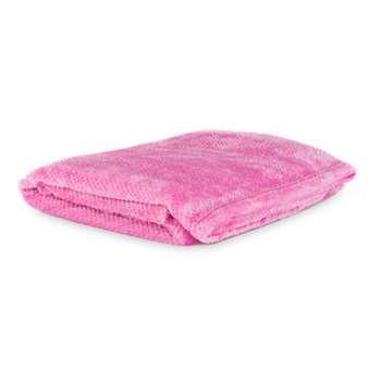 Pink Cooper Jacquard Fleece Blanket (125 x 150cm)