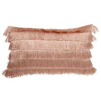 Pink Cushion Cover with Fringing (H30 x W50cm)