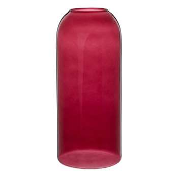 Pink Glass Vase (H23.5 x W10 x D10cm)