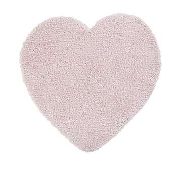 Pink Heart Rug (H100 x W100 x D1cm)