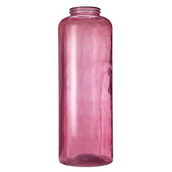 Pink smoked glass vase CAPUCINE (70 x 25cm)