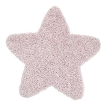 Pink Star Rug (H100 x W100 x D1cm)