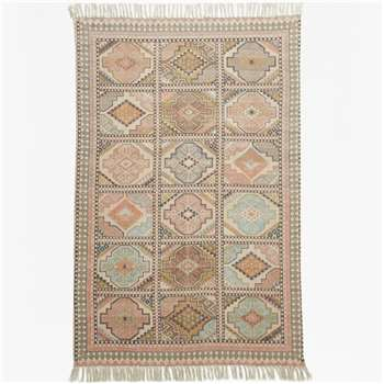 Pink Tiled Rug (120 x 180cm)