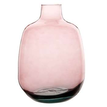 Pink Tinted Glass Bottle Vase (H26.5 x W37 x D37cm)