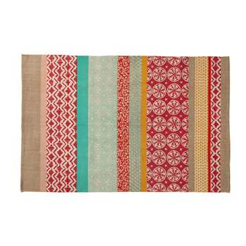 PINKPLANET cotton rug, multicoloured (120 x 180cm)