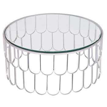 Pino Silver Coffee Table (H37 x W80 x D80cm)