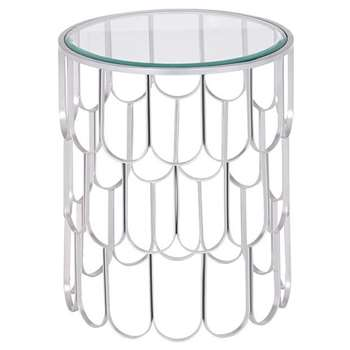 Pino Silver Side Table (H54 x W45 x D45cm)