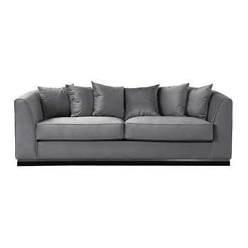 Pino Three Seat Sofa  - Dove Grey - Silver Base (H76 x W217 x D93cm)