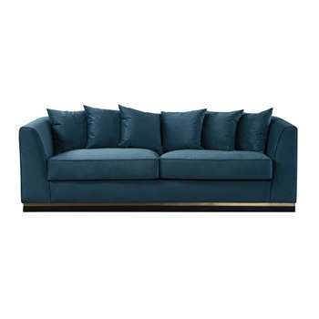 Pino Three Seat Sofa  - Peacock (H76 x W217 x D93cm)