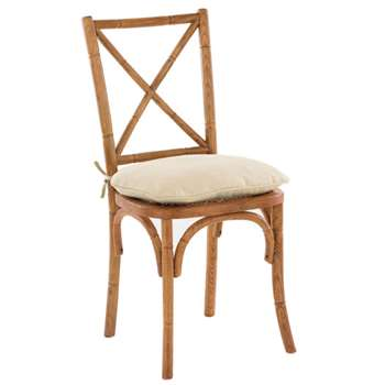 Piped Cushion Cover for Camargue Chair - Cream/Natural (44 x 48cm)
