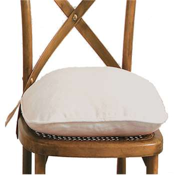 Piped Cushion Cover for Camargue Chair - White (44 x 48cm)