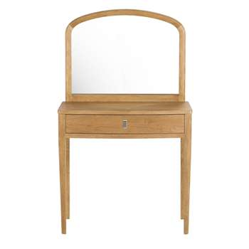 PIPPA Solid Oak Vintage 1-Drawer Dressing Table (136 x 80cm)