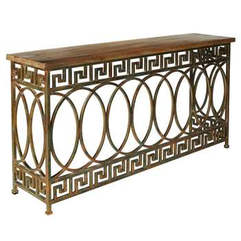 Pisces Console Table - Bronze Verdigris (83 x 166cm)