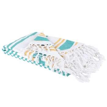 PISCINE Cotton Fouta Towel with Stripe Print (H160 x W160cm)