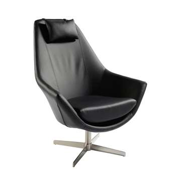 Pivot swivelling armchair black (100 x 90cm)